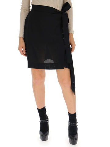 Rick Owens Asymmetric Wrap Skirt