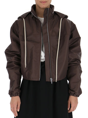 Rick Owens High Neck Cropped Jacket