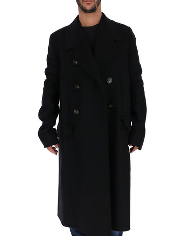 Rick Owens Double-Breasted Long Coat