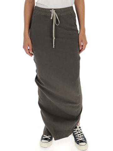 Rick Owens Drkshdw Long-Fitted Skirt