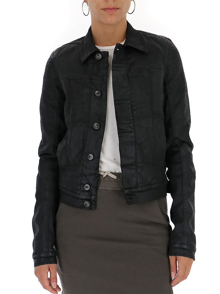 Rick Owens Drkshdw Cropped Fitted Jacket In Black