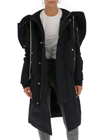 Rick Owens Drkshdw Hooded Mid Length Coat