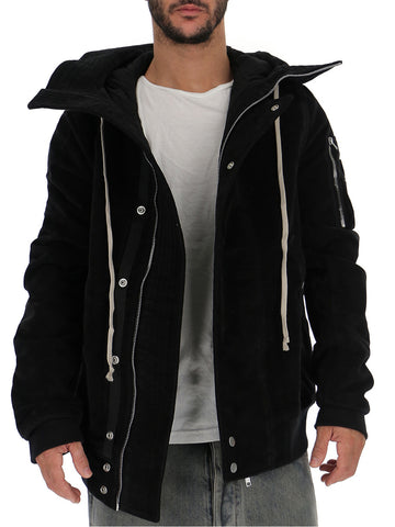 Rick Owens Drkshdw Hooded Loose Fit Jacket
