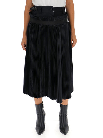 Sacai Asymmetric Detail Midi Skirt