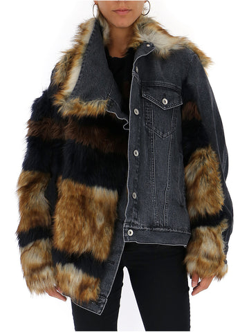 Sacai Faux Fur Denim Jacket