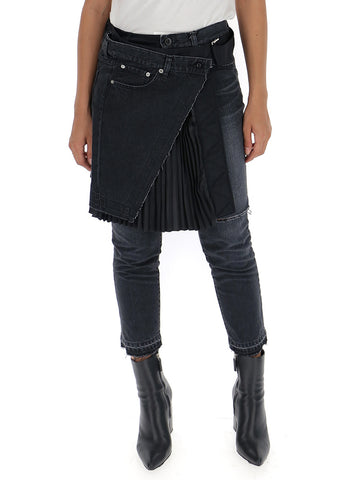 Sacai Cropped Skirt Detail Pants