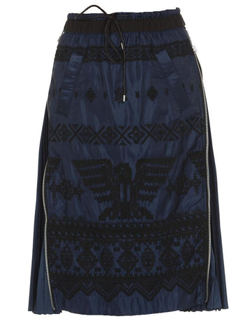 Sacai Side Zip Skirt