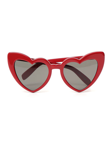 Saint Laurent Lou Lou Heart Framed Sunglasses