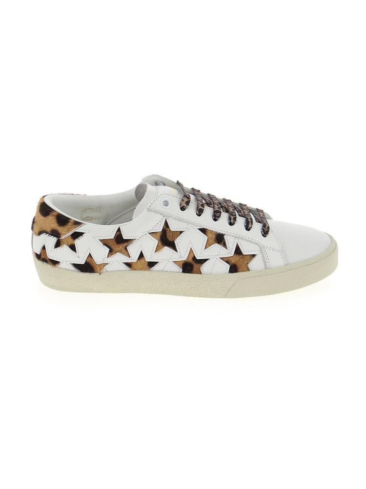 SAINT LAURENT LEOPARD SIGNATURE COURT SL/06 SNEAKERS