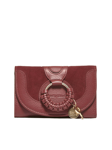 See By Chloè Medium Interwoven Embellished Charm Wallet