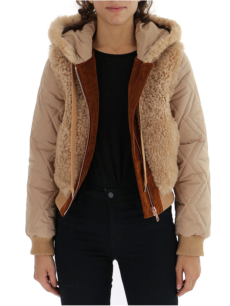 SEE BY CHLOÉ SEE BY CHLOÉ SHEARLING BOMBER JACKET