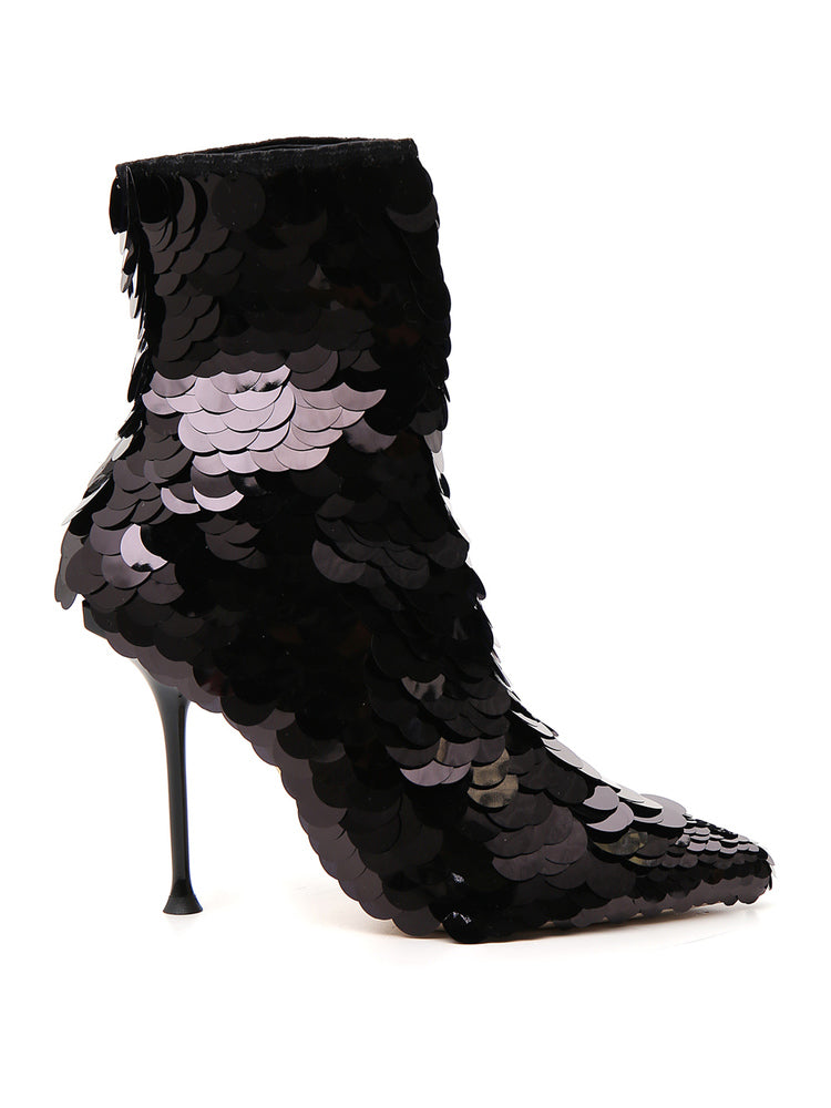 242d0ed41cf Sergio Rossi Sequin-Looking Ankle Boots – Cettire