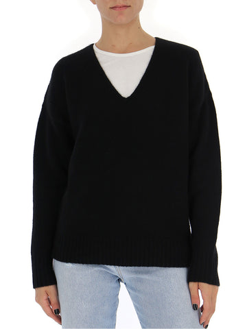 Theory V-Neck Ribbed Cuffs Jumper