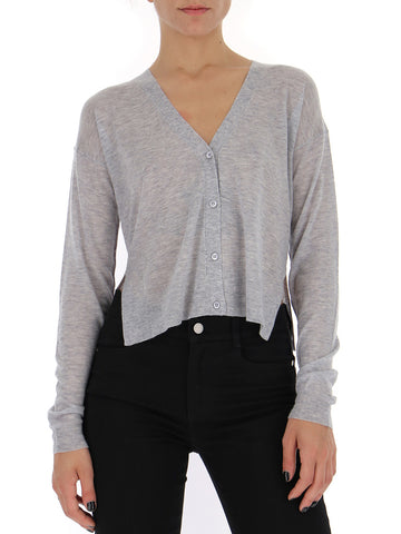 Theory Side Slit Cropped Cardigan