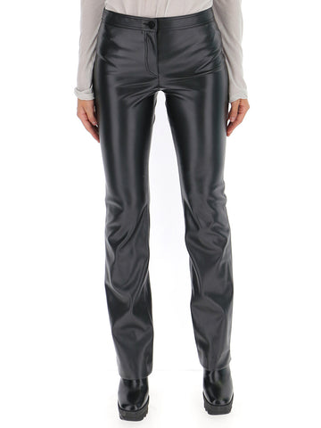 Theory Faux Leather Flared Pants