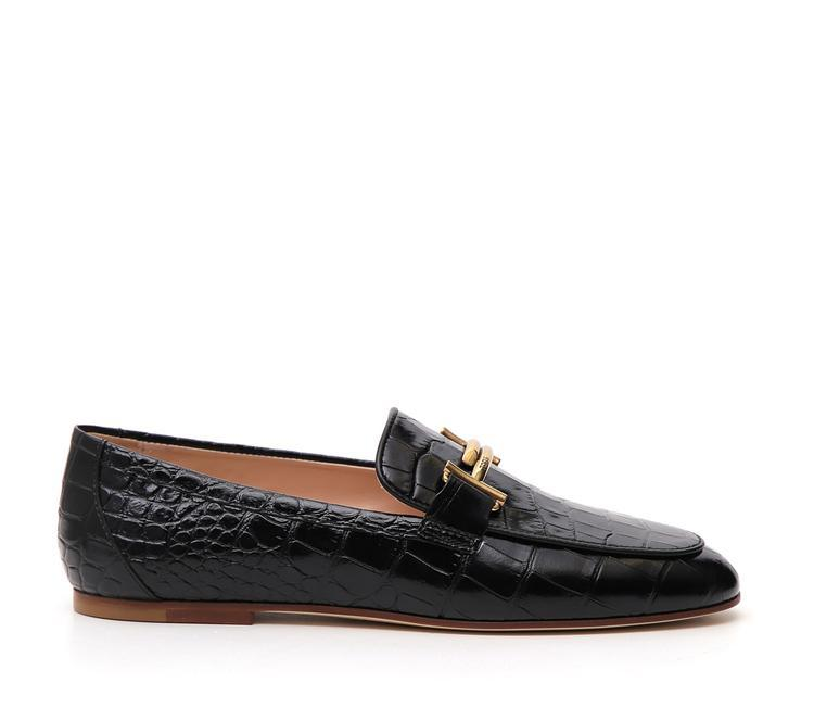 TOD'S CROC EFFECT LOAFER