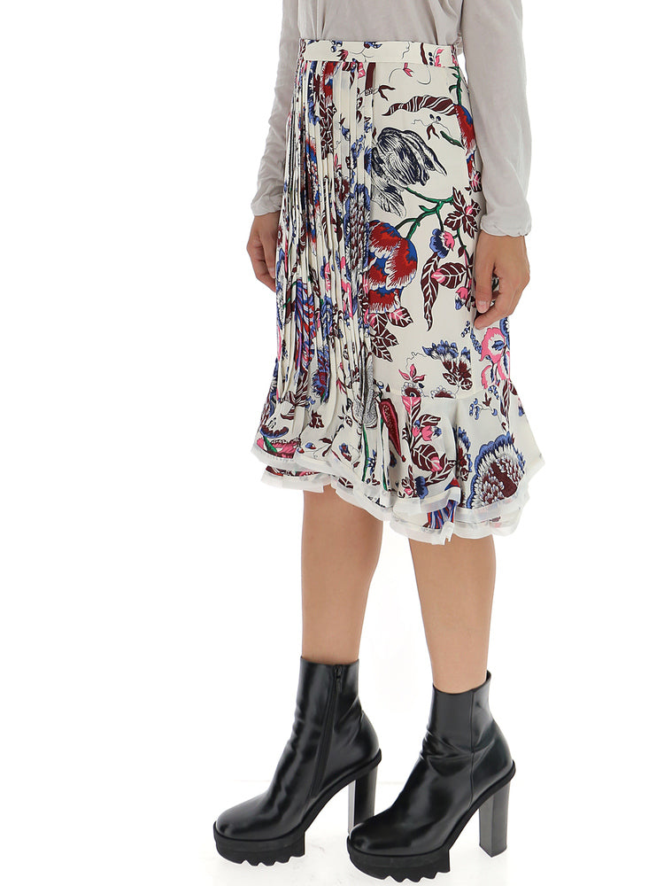 92c2acce59 Tory Burch Floral Pleated Midi Skirt – Cettire