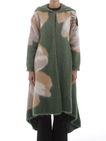 Valentino Motif Printed Waterfall Coat