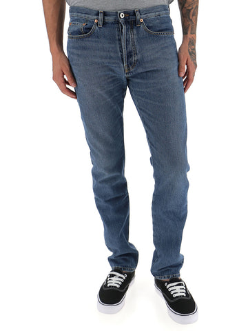 Valentino Washed Slim Fitted Jeans