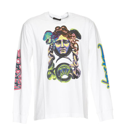 Versace Medusa Logo Long Sleeve T-Shirt