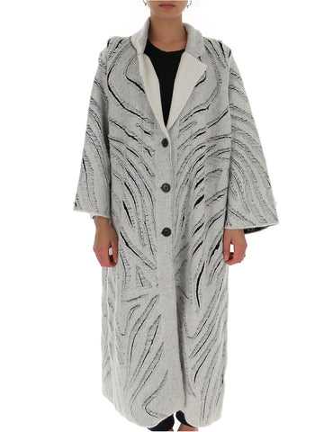 3.1 Phillip Lim Oversize Frayed Straight Coat