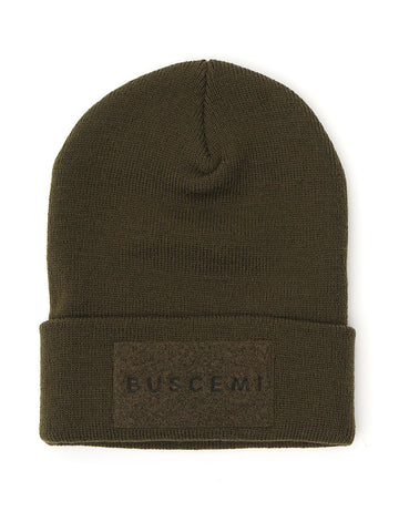 Buscemi Logo Patch Knitted Beanie
