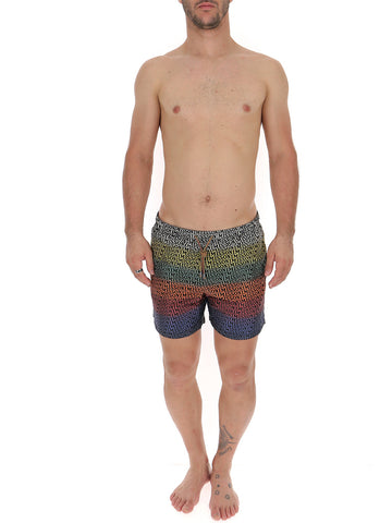 Missoni All Over Logo Gradient Swim Shorts