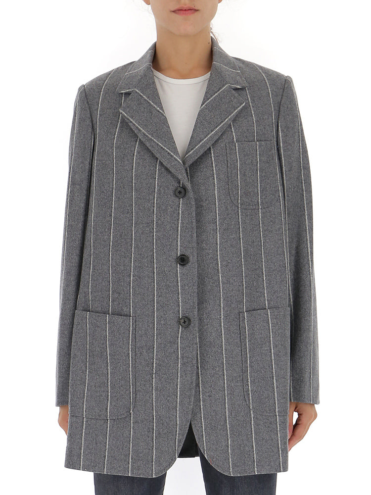 Thom Browne Pinstripe Oversize Sports Coat