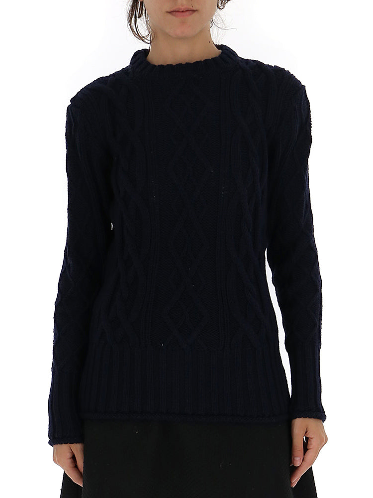 Thom Browne Striped Detail Textured Sweater