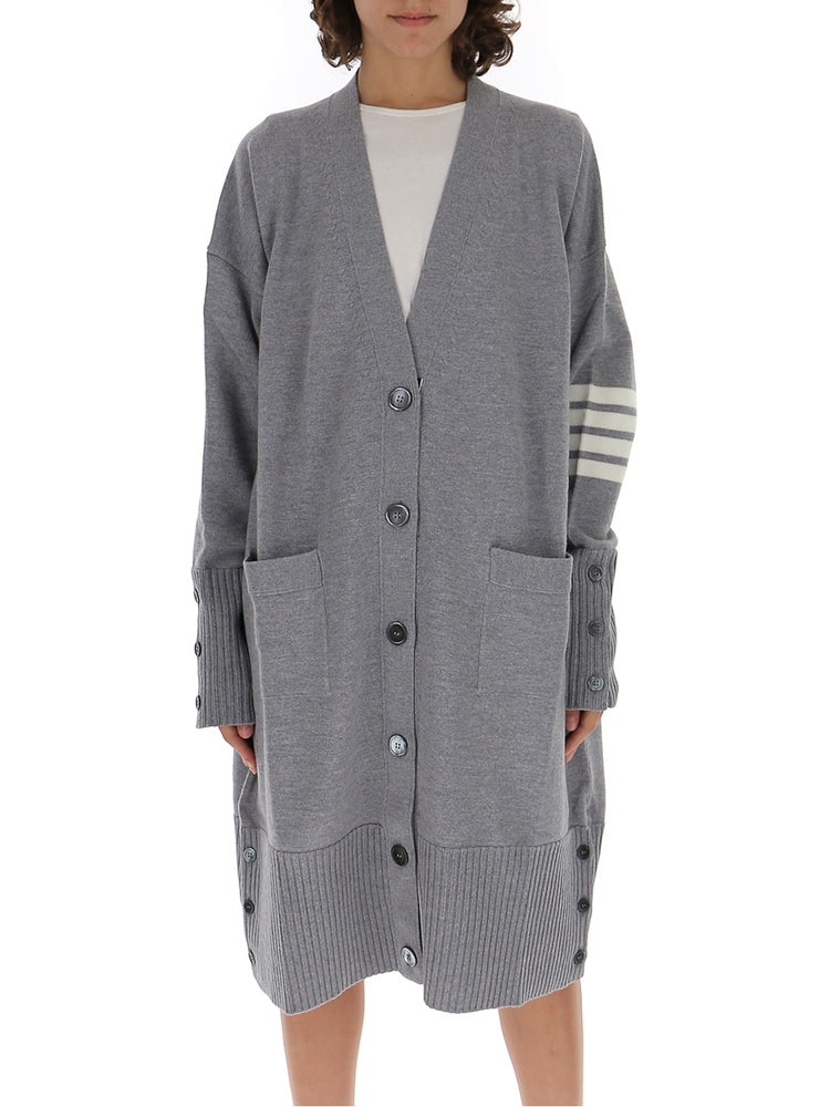 Thom Browne 4-Bar Oversized Cardigan