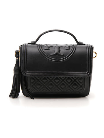 Tory Burch Fleming Logo Satchel Bag