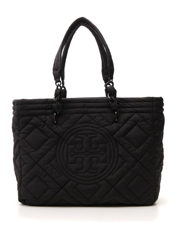 Tory Burch Logo Quilted Tote Bag