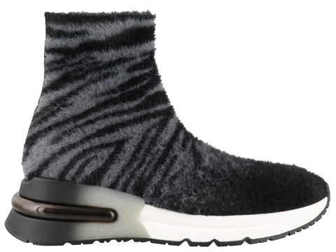Ash King Fur Detail High Top Sneakers