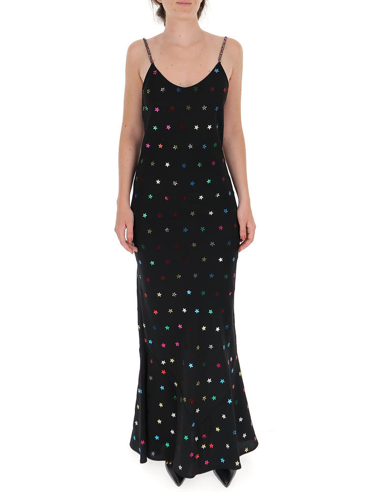 Attico Dresses ATTICO STAR EMBELLISHED SLIP DRESS