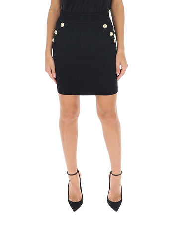 Balmain Button Embellished Pencil Skirt
