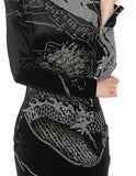 Balmain Crystal Embellished Dragon Mini Dress