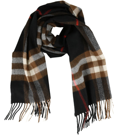Burberry Fringed Checkered Scarf