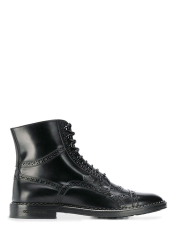 Dolce & Gabbana Lace-Up Boots