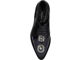 Dolce & Gabbana Crystal Detail Lace-Up Shoes