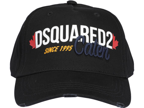Dsquared2 Logo Embroidered Distressed Baseball Cap