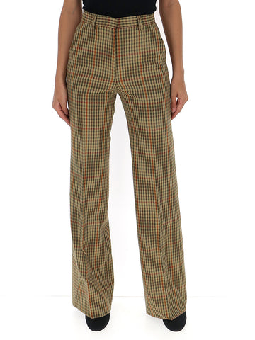 Etro Houndstooth Print Pants