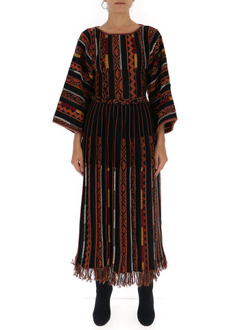 Etro Fring Trim Panelled Knitted Dress