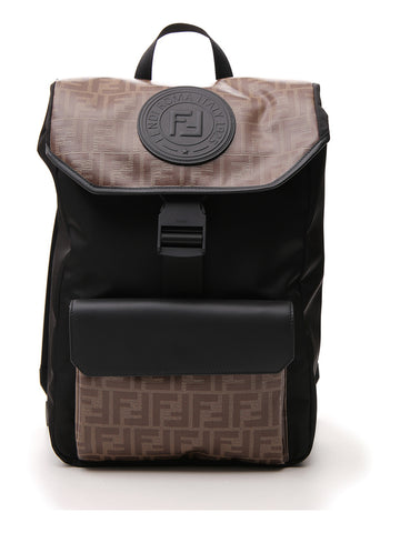 Fendi Monogram Strap Backpack