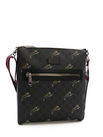 Gucci GG Supreme Tigers Messenger Bag