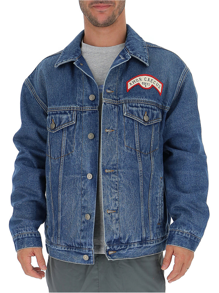 Gucci Jackets GUCCI BACK PATCH DENIM JACKET