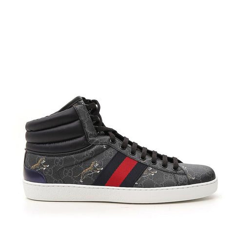 Gucci Hi-Top Tiger Logo Sneakers