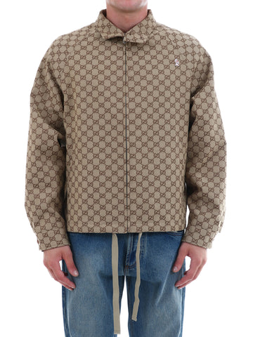 Gucci GG Canvas Zipped Bomber Jacket