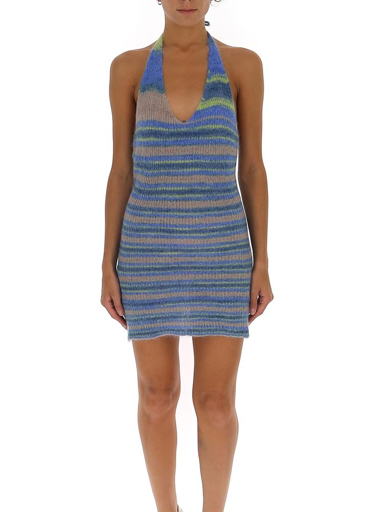 Jacquemus Dresses JACQUEMUS STRIPED HALTER NECK MINI DRESS