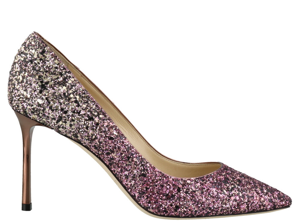 Jimmy Choo Pumps JIMMY CHOO ROMY 85 GLITTER PUMPS