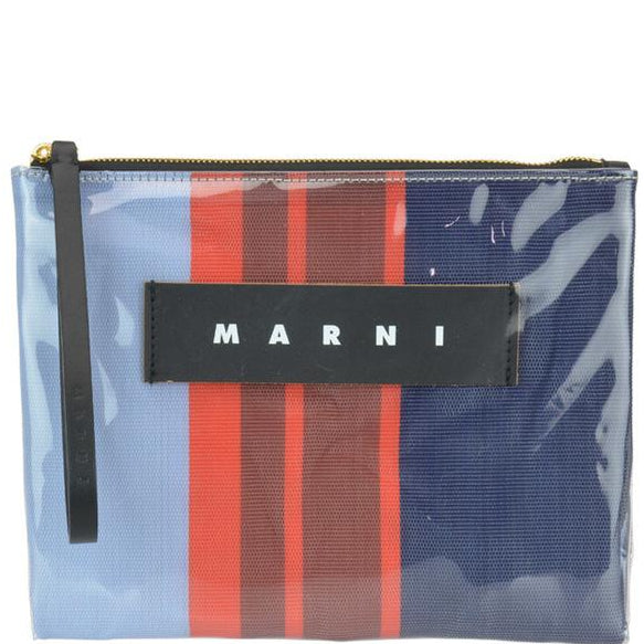 Marni Striped Wristlet Clutch Bag In Multi
